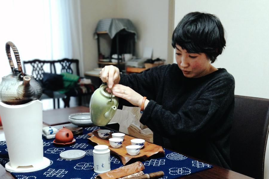 松岡文さんのお茶会